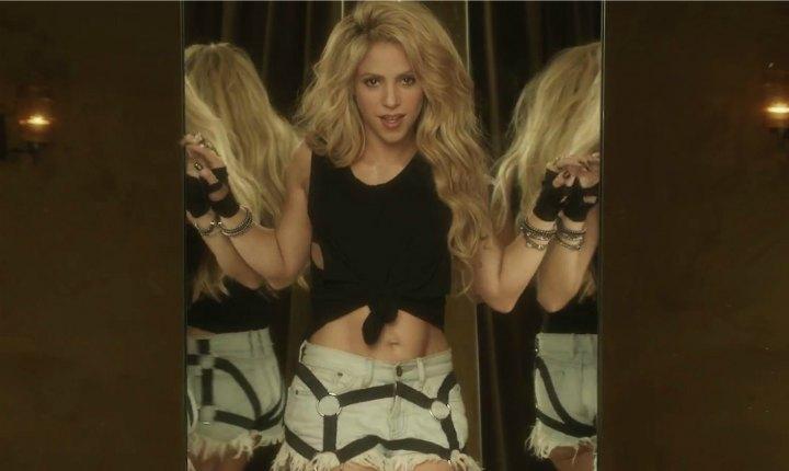 Shakira fue captada filmando su nuevo video