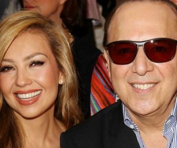 Thalía celebra su aniversario con Tommy Mottola