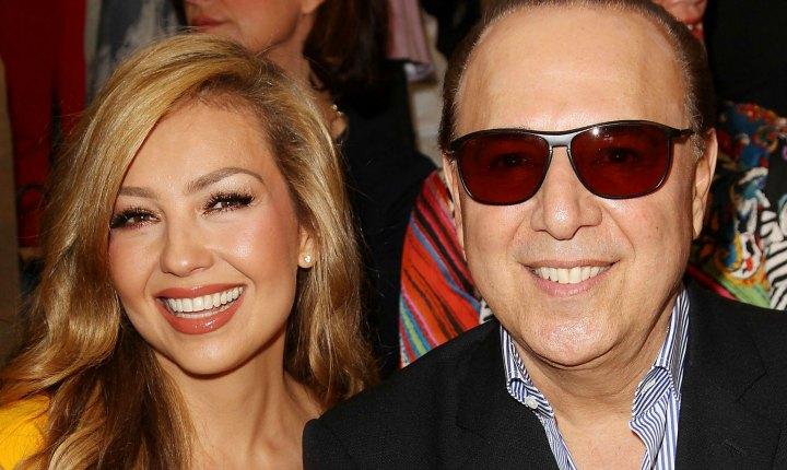 Thalía felicitó a su esposo en redes
