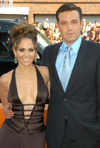 Ben Affleck and Jennifer Lopez during Gigli California Premiere at Mann National in Westwood, California, United States. (Photo by Jeff Kravitz/FilmMagic)