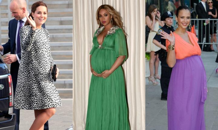 Aprende de las famosas los mejores looks pre-mamá