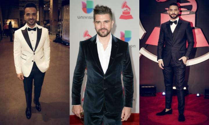 Los galanes de los Latin Grammy 2017