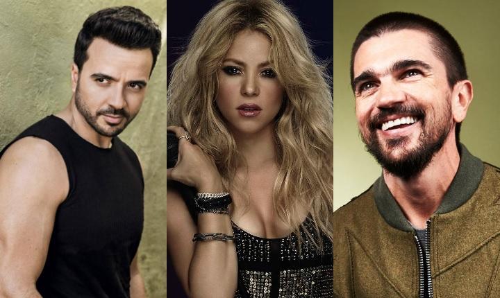 Shakira, Juanes y Luis Fonsi nominados a los Grammy 2018