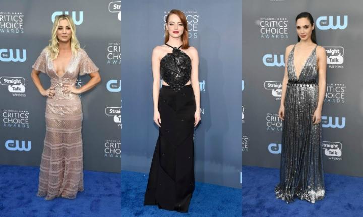 Los vestidos más hermosos de la alfombra azul de los Critics' Choice Awards 2018