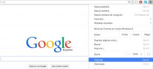 borrar historial-google