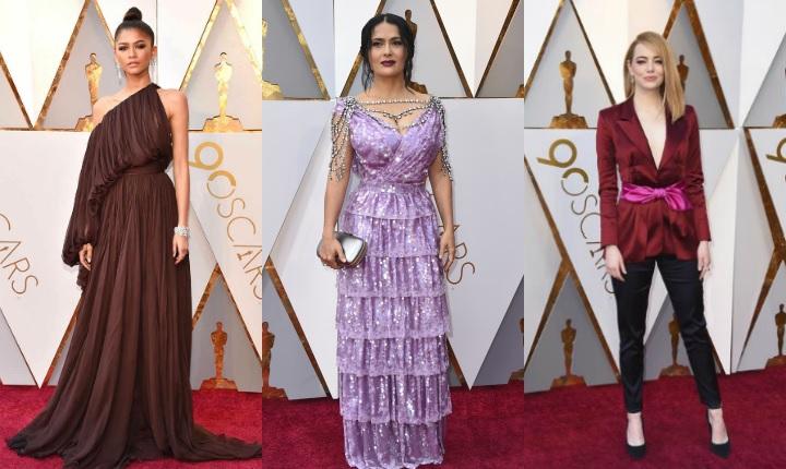 Belleza y rareza en los Premios Oscar 2018