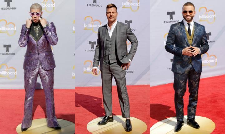 """¿A cuál de estos hombres les darías """"10"""" por su look en los Premios Billboard Latinos 2018?"""
