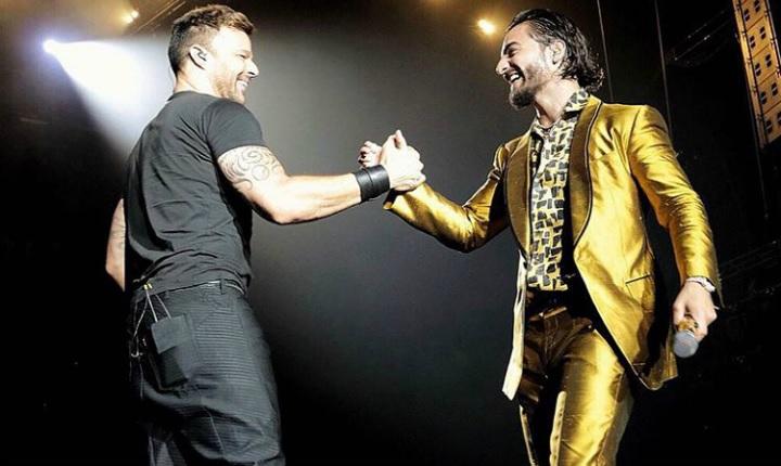 Ricky Martin sorprendió en concierto de Maluma
