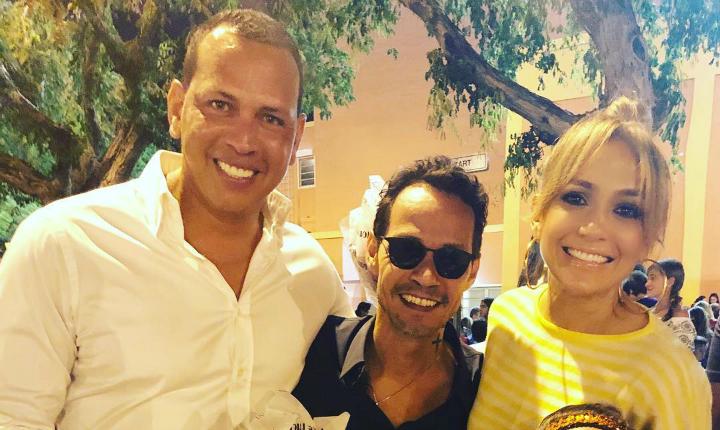Marc Anthony, Jennifer López y su novio comparten en familia