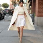 kendall falda blanca
