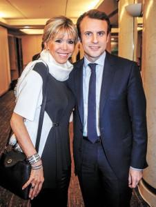 Emmanuel y Brigitte Macron