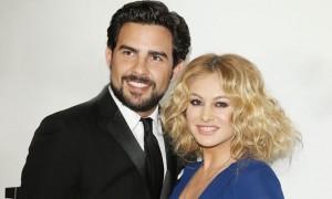 Paulina Rubio con su ex Gerardo Bazúa