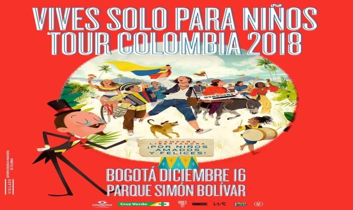 Carlos Vives cantará para los niños en Bogotá
