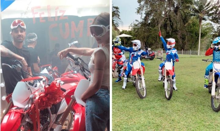 Greeicy celebro su cumpleaños con caída en moto