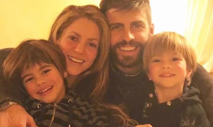 Hijos de Shakira se roban la atención en foto familiar