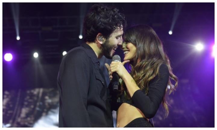 Beso entre Sebastián Yatra y Tini desata rumores de noviazgo