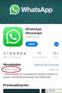 Revisar versión en iOS