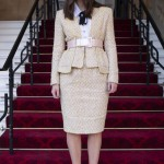 Keira Knightley Salary - Keira Knightley Receives OBE from Prince Charles in a Chanel Skirt Suit