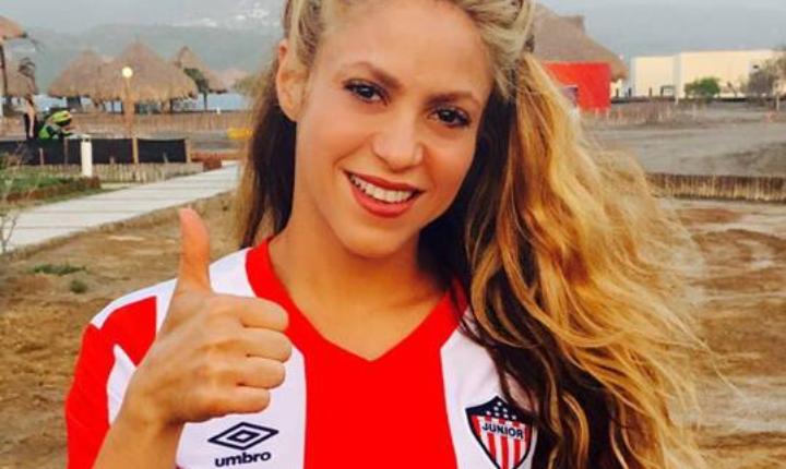 Como buena barranquillera, Shakira celebró triunfo del Junior