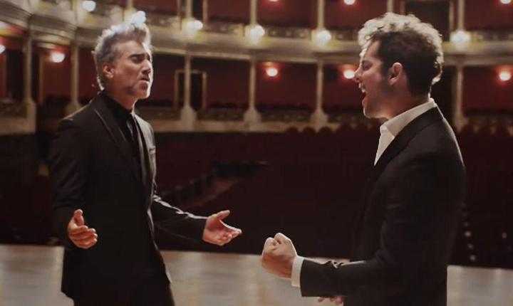 David Bisbal y Alejandro Fernández presentan nueva canción 'Abriré la puerta'.