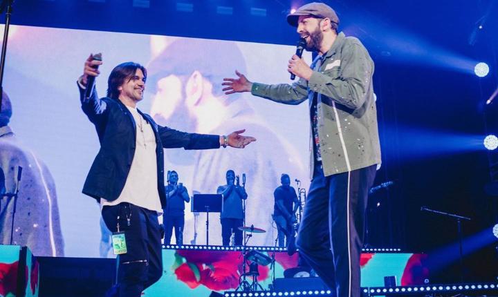 Juanes sorprende en concierto de Juan Luis Guerra