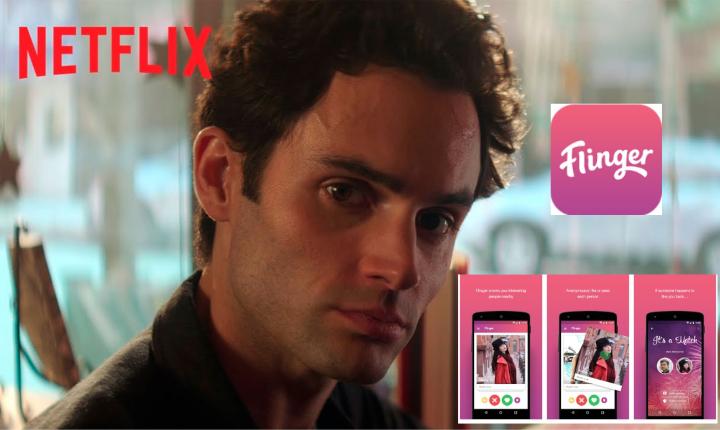 """Flinger, la app falsa que se viraliza por la serie """"You"""" de Netflix"""