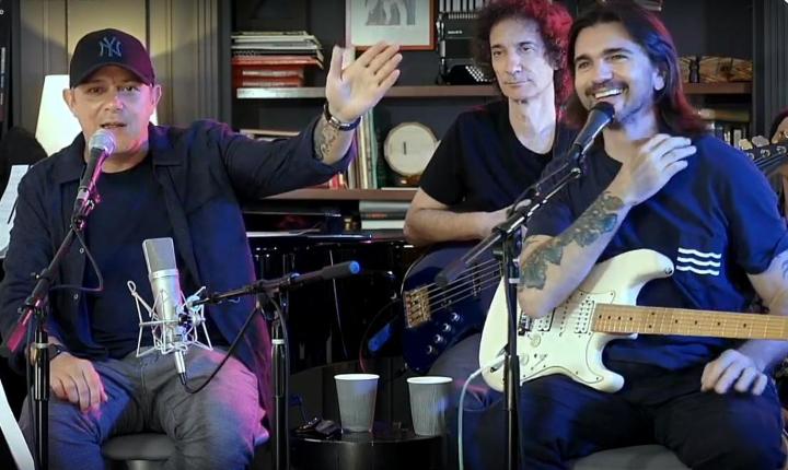 Juanes y Alejandro Sanz ofrecieron concierto virtual