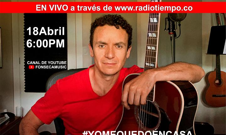 Fonseca volverá a los hogares con otro concierto virtual