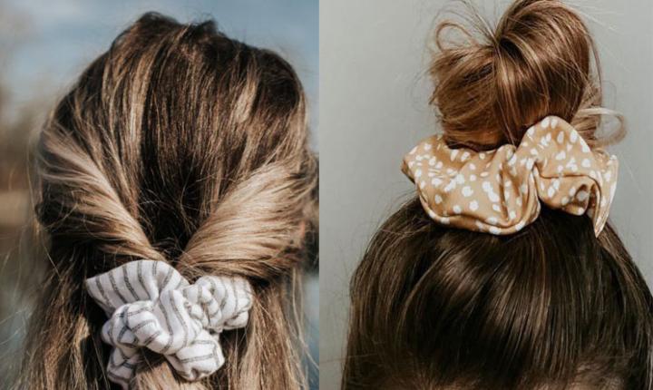 Scrunchies para que dejes de pelear con tu cabello