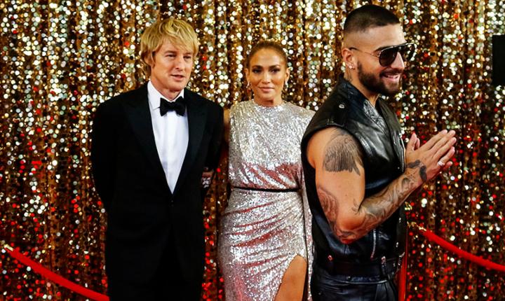 Jennifer López presenta adelanto de película con Maluma