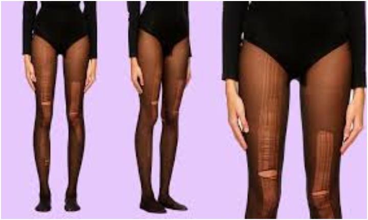 Las medias rotas están de moda ¿Te las pondrías?