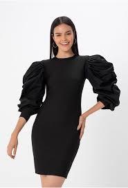 vestido negro corto 3