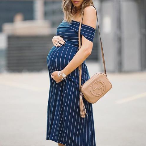 vestido-de-rallas-embarazo