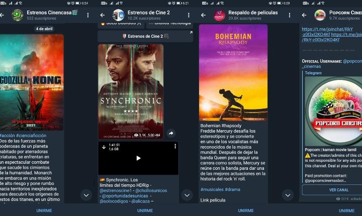 Cómo ver y descargar películas desde Telegram